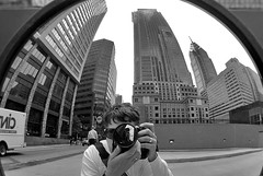 Reflekt3 (damonabnormal) Tags: street city urban distortion reflection philadelphia june mirror nikon cityscape streetphotography pa 09 tuesday philly 2009 215 securitymirror meandmycamera d80 nikond80 hyperurban