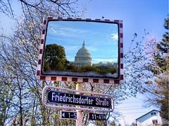 Capitol Hill Mirror (lapideo) Tags: usa germany mirror washington montage capitolhill badhomburg verkehrsspiegel