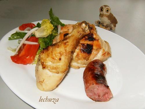 Barbacoa de pollo-plato