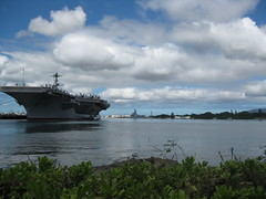 An aircraft carrier, Pearl Harbor