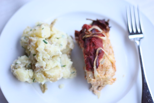 Mom's Turkey Meatloaf and Buttermilk Mashed Potatoes (recipe by Ellie Krieger)