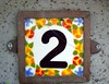 Colorful house number, two