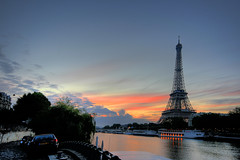 Paris - Eiffel Tower at Sunrise