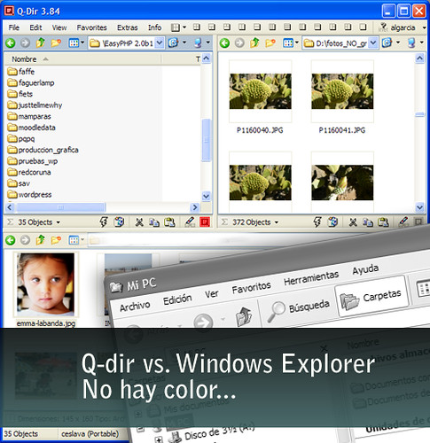 Q-Dir portátil alternativa a Windows Explorer