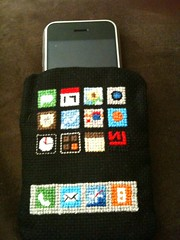 New Custom iPhone Case - Front (astroot) Tags: apple crossstitch nineinchnails handcrafted tuaw iphone nin4an4hotog customiphonecase