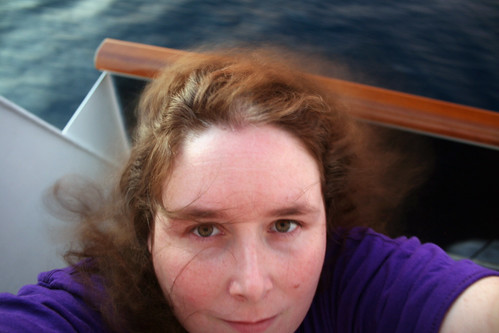 Me as Raggedy Anne on Balcony