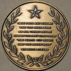 1964 Alaska Earthquake medal reverse