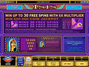 Isis bonus game