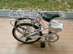 Dahon Vitesse D7 (chinnian) Tags: cloud white bicycle rear traveller rack 2009 foldingbike dahon foldie vd7 vitessed7