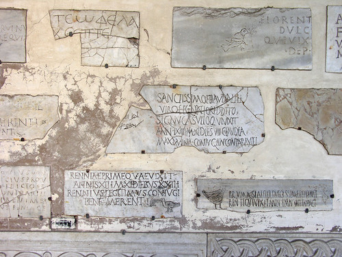 Fragments of inscriptions in Santa Maria in Trastevere