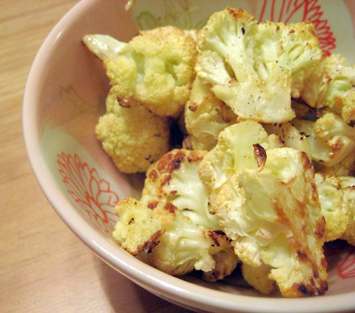 roasted cauliflower with lemon