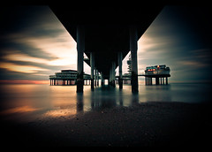 Under 'de Pier' @Scheveningen, Holland (Christiaan Brugge) Tags: longexposure sunset sea summer vacation sky sun shells holiday holland beach water dutch strand de point landscape evening vakantie zonsondergang waves scheveningen perspective nederland shell zee denhaag explore het van een zon branding schelp schelpen hollands peer landschap zuidholland pir movingclouds ndfilter ondergang schelpjes perspectief thenetherland 1000x explored nd110 vanishin ondergaan christiaanbrugge chpbrugge