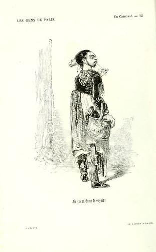 001-En carnaval-Ah si su dama le viera-dibujo de Gavarni