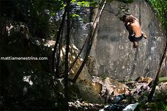 Bocca di Montecristo project (menemat) Tags: italy rock project climb nicola flash free valle boulder climbing di trento bouldering climber falesia arco bocca dei trentino montecristo arrampicata libera laghi vezzano strobist ciago
