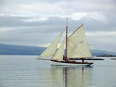 """Gigha 7am start (nz_willowherb) Tags: holiday see scotland boat sailing tour vessel visit jura sound charter gigha to"""" """"go"""