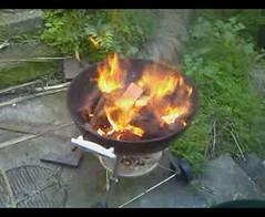 Weber on fire