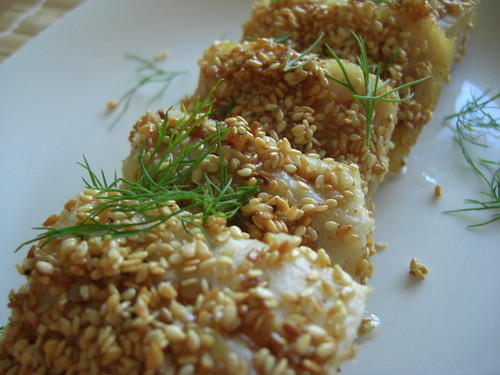 Sesame seed fish