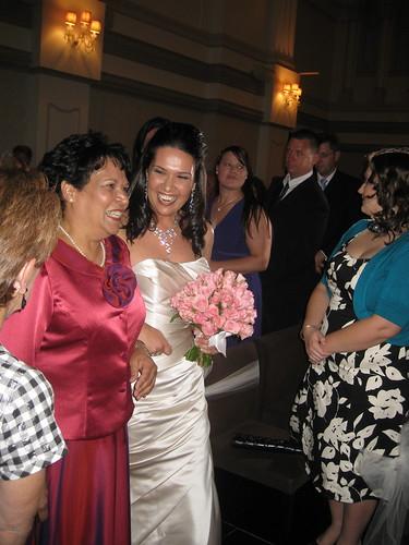 The bride, Mel & her Mum