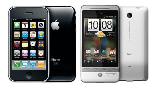 htc hero vs Apple iPhone