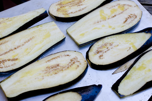 before broiling eggplant