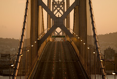 Bay Bridge closure (exxonvaldez) Tags: sanfrancisco sunset baybridge closure sfist
