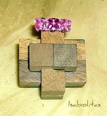 Anillo 3 flores Swarovski rosa (Isabolitas) Tags: anillos