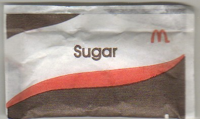 McDonald's McCafe Australia sugar packet