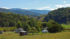 Late Summer in West Virginia (kuyman) Tags: old blue autumn summer sky house west fall beautiful leaves clouds landscape virginia early nikon bright scenic poland hills valley late camper mccomas kuyler d40x