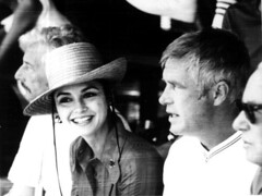 Actor George Peppard, at right, with actress V...