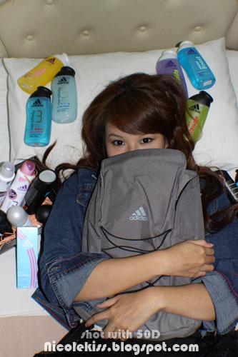 hugging backpack