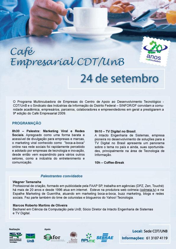 9º Café Empresarial - CDT/UnB