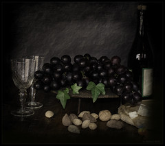 It's all ready ...for  later... (Rebeca Mello) Tags: stilllife texture textura photoshop glasses bravo wine sony nuts uva legacy grape vinho taas lightroom tistheseason castanhas alpha200 sonyalpha200 stealingshadows flickrhivemind awardtree tisexcellence miasbest miasexcellence rebecamello rebecamcmello daarklands legacyexcellence flickrvault selectbestfavorites flickrvaultexcellence trolledproud trollieexcellence daarklandsexcellence stillexcellence newgoldenseal
