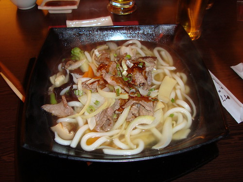 Beef soup and noodles
