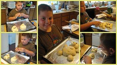 Making Teddy Bear Bread with my son