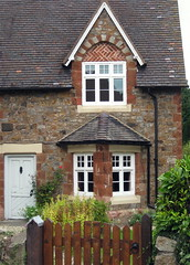 Quirky house, Pontesbury (wonky knee) Tags: uk house shropshire cottage quirky pontesbury