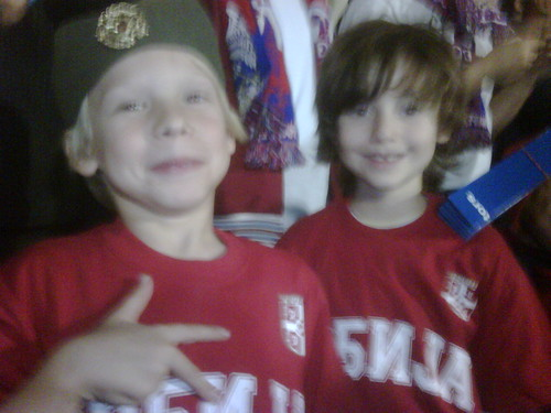 Owen & Sebey At Red Star Stadium