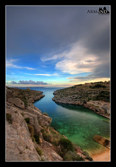 Mgarr ix-Xini (armandsciberras) Tags: sea cloud water rock clouds landscape coast rocks mediterranean wide malta coastal valley armand cloudscape gozo mediterrenean 10mm xewkija mgarr seasape sciberras armandsciberras ixxini