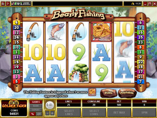 Bearly Fishing slot game online review