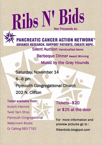 PanCan Fundraiser Flyer