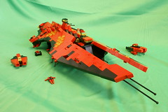 They're back! (NIRDIAN) Tags: lego d fighters frigate rcc moc microspace homeworld2 ibuilt redclawclan homeworldish probablysubconsciouslyinspiredbynnenn