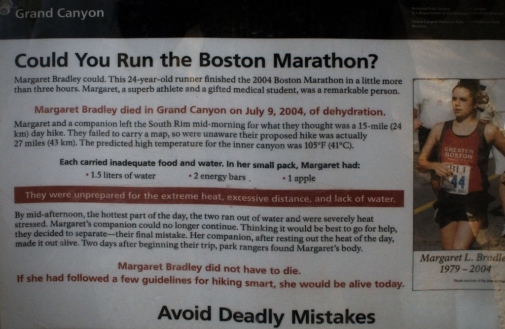 This was a warning sign at one of the trailheads.  Strange fiction and rational make for some kinda warning.