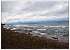 Lake Michigan in October (swanksalot) Tags: water wisconsin clouds dawn lakemichigan doorcounty 613am swanksalot sethanderson