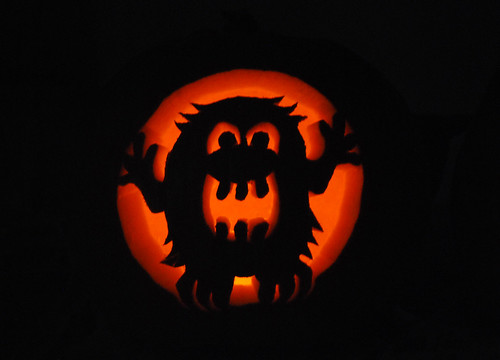 073 carved pumpkin