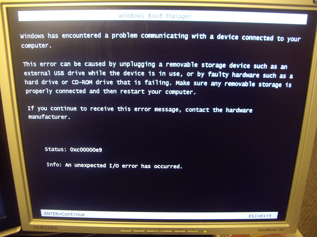Windows 7 Installation Problem