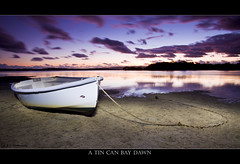 A Tin Can Bay Dawn (Adam Randell) Tags: water clouds sunrise canon tide rope filter anchor tender cokin tincanbay eos50d