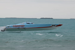 Fountain Racing boat