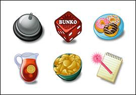free Bunko Bonanza slot game symbols