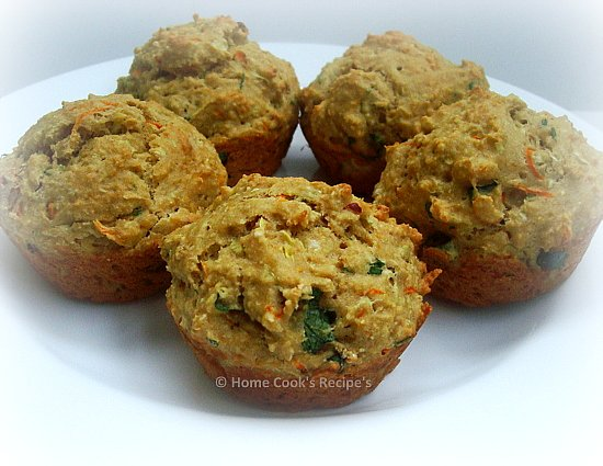 Whole Wheat Savoury Muffins