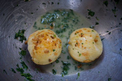 toss with melted butter and parsley