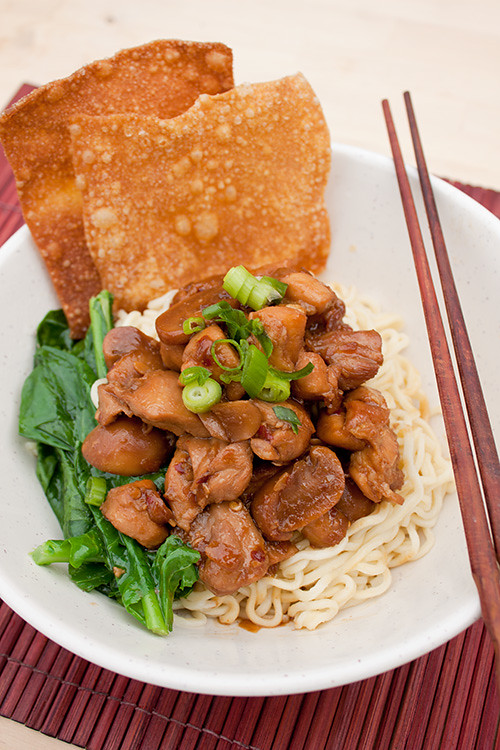 Mie Ayam (Indonesian Chicken Noodle)